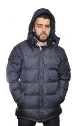 12 Units of Men's Parka Padded Puffer Coat With Fleece Lining - Men's Winter Jackets