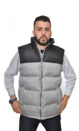 12 Units of Men's Nylon Synthetic Down Vest With Fleece Lining - Men's Winter Jackets