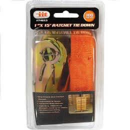 """24 Units of 1"""" X 15' Ratchet Tie Down - Hardware Products"""