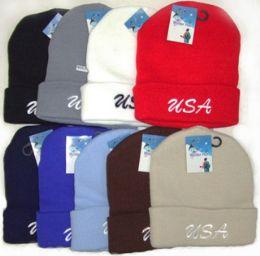 48 Units of USA Ski/Beanie Cap - Winter Beanie Hats