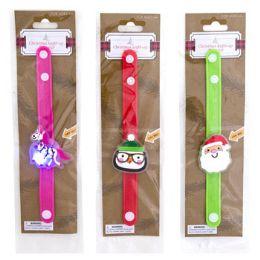 36 Units of Bracelet Christmas Lightup Penguin Santa Unicorn - Christmas Novelties