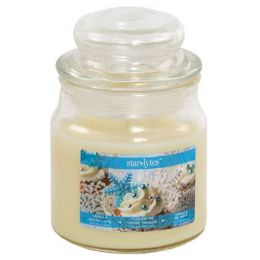 12 Units of Candle Scented Apothecary Jar Vanilla Snowflakes - Christmas Novelties