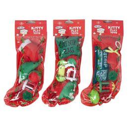 36 Units of Cat Toy Christmas Stocking - Christmas Novelties