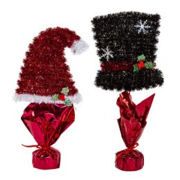 24 Units of Centerpiece Tinsel Christmas Decor - Christmas Decorations