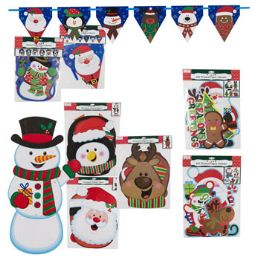 48 Units of Christmas Paper Decor Banner - Christmas Decorations