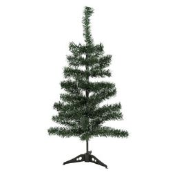 24 Units of Christmas Tree Green With White Tips - Christmas Decorations