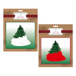 36 Units of Christmas Tree Removal Bag Giant Red Or White - Christmas Novelties