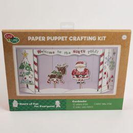 24 Units of Crafting Kit Paper Puppet Santas Workshop - Christmas Novelties