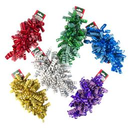 48 Units of Curl Bow Sparkle And Hologram - Christmas Decorations