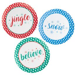 48 Units of Dessert Plate Christmas - Christmas Decorations