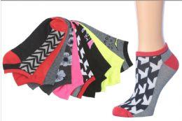 216 Units of Women's Mega Pack No Show Socks - Womens Ankle Sock