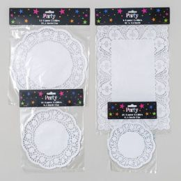 144 Units of Doilies Paper - Placemats and Doilies