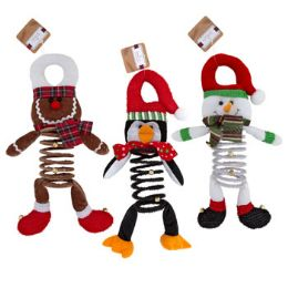 24 Units of Door Hanger Christmas Character Deluxe Plush\ - Christmas Decorations