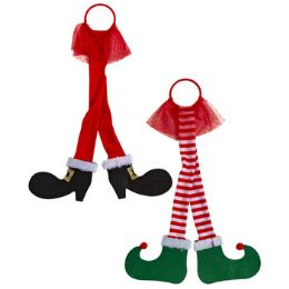 24 Units of Door Hanger Elf Santa Legs Christmas - Christmas Decorations