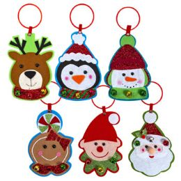 48 Units of Door Hanger Felt With Jingle Trim Christmas - Christmas Decorations
