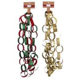 24 Units of Garland Glitter Chain - Christmas Novelties