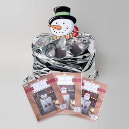 72 Units of Gift Bag Metallic Foil Giant Christmas - Christmas Gift Bags and Boxes