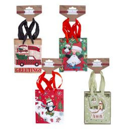 72 Units of Gift Bag Small Christmas - Christmas Gift Bags and Boxes