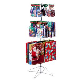 72 Units of Gift Bag Christmas With Spinner Rack - Christmas Gift Bags and Boxes