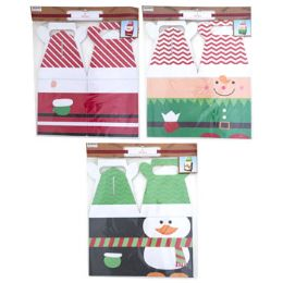 24 Units of Gift Box Christmas Giant With Handle - Christmas Gift Bags and Boxes