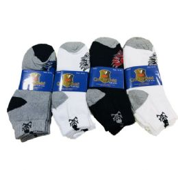 24 Units of Anklets 10-13 Skulls - Mens Ankle Sock