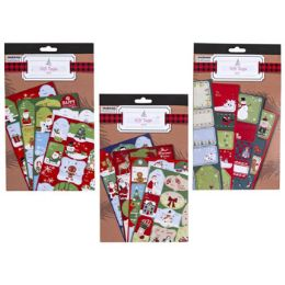 48 Units of Gift Tag Book Xmas Self Stick - Christmas Gift Bags and Boxes