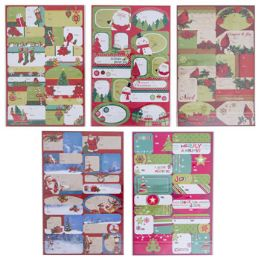 48 Units of Gift Tag Christmas Selfstick - Christmas Gift Bags and Boxes