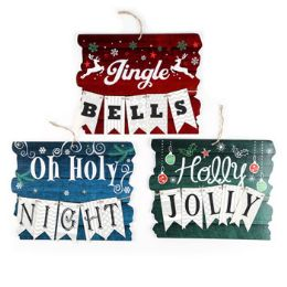 36 Units of Hanging Christmas Sign Decor - Christmas Decorations