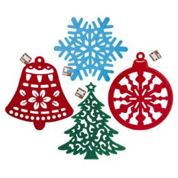 36 Units of Hanging Diecut Felt Xmas Decor - Christmas Decorations