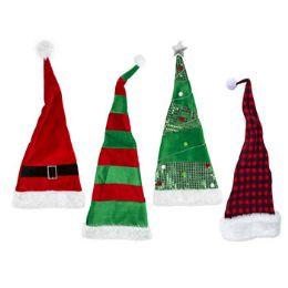24 Units of Hat Christmas Long - Christmas Novelties