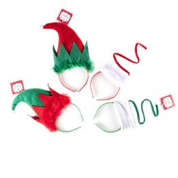 24 Units of Headband Elf Or Spiral Tree Christmas - Christmas Novelties