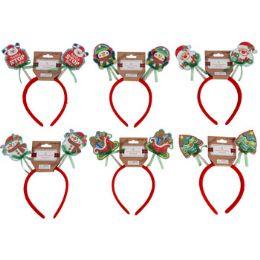 48 Units of Headband Novelty Christmas Felt - Christmas Novelties