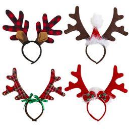 24 Units of Headband Reindeer Deluxe Christmas - Christmas Novelties