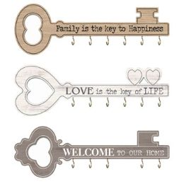 6 Units of Home Wall Decor Key Shaped - Home Decor