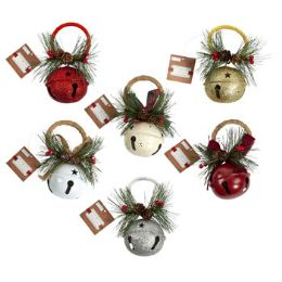 48 Units of Jingle Bell Ornament Door Hanger - Christmas Decorations