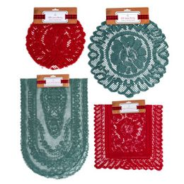 96 Units of Lace Doily Runner - Christmas Decorations