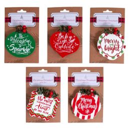 30 Units of Ornament Clip on Greeting - Christmas Ornament