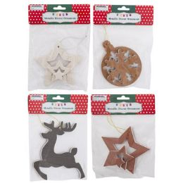 48 Units of Ornament Diecut Metallic - Christmas Ornament