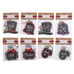 48 Units of Ornament Family Greeting - Christmas Ornament