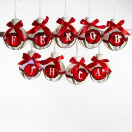 60 Units of Ornament Led Lighted Monogram - Christmas Ornament