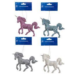 48 Units of Ornament Unicorn Glitter - Christmas Ornament