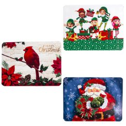 36 Units of Placemat Plastic Assorted Christmas - Christmas Novelties