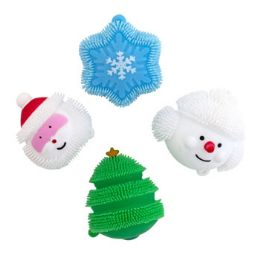 36 Units of Puff Christmas Character Liteup Squeeze Stocking Stuffer - Christmas Novelties