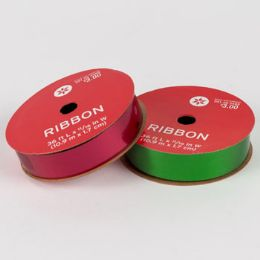 5 Units of Ribbon Spool Red And Green - Christmas Novelties