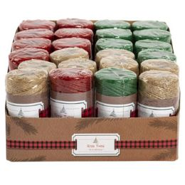 48 Units of Rope Twine Assorted - Christmas Novelties
