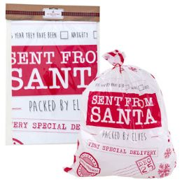 24 Units of Santa Gift Sackt - Christmas Gift Bags and Boxes