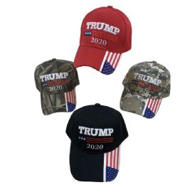 24 Units of Trump 2020 Hat [flag On Bill] Color/camo - Baseball Caps & Snap Backs