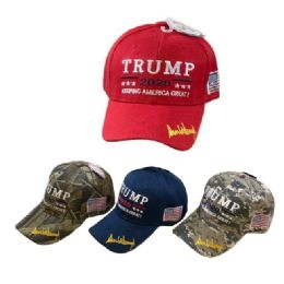 24 Units of Trump 2020 Hat with Flag - Baseball Caps & Snap Backs
