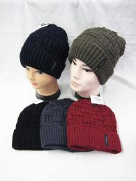 36 Units of Warm Chunky Soft Stretch Cable Knit Beanie - Winter Beanie Hats