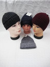 36 Units of Warm Stretchy And Soft Daily Ribbed Toboggan Cap - Winter Beanie Hats